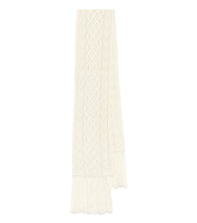 Loewe - Cable-knit wool and cashmere scarf | Mytheresa