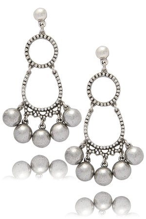 PHILIPPE AUDIBERT JUNIVIA Silver Beads Earrings – PRET-A-BEAUTE.COM