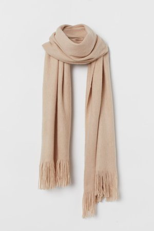 Fringed scarf - Beige - Ladies | H&M GB