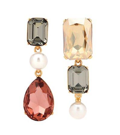 Crystal clip-on earrings