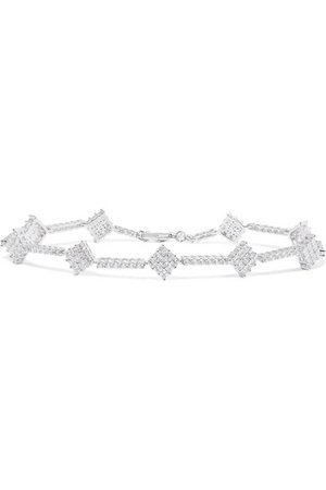 Kenneth Jay Lane | Silver-tone cubic zirconia anklet | NET-A-PORTER.COM