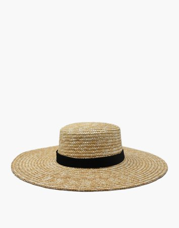 WYETH Straw Nellie Wide-Brimmed Boater Hat