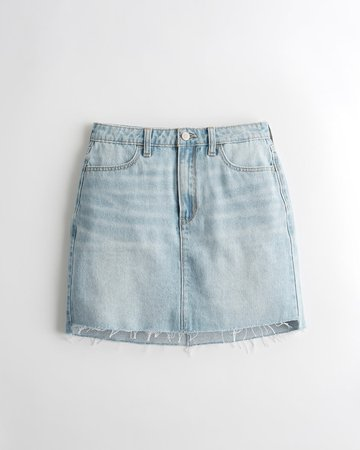 Ultra High-Rise Denim Skirt