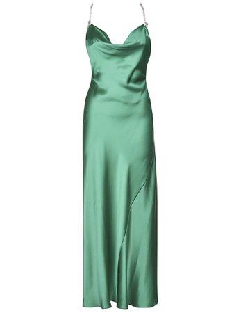 Alessandra Rich Shiny Effect Sleeveless Dress
