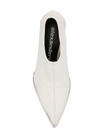 Alexander Wang White Metal Boots - Farfetch