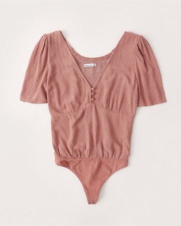 Women's Puff-Sleeve Bodysuit | Women's New Arrivals | Abercrombie.com