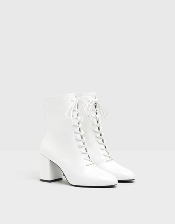 Lace-up high heel ankle boots - New - Bershka United States