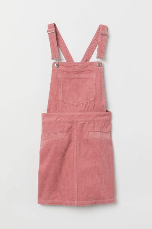Bib Overall Dress - Pink