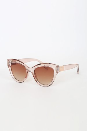 Transparent Brown Sunglasses - Brown Sunnies - Gradient Lenses
