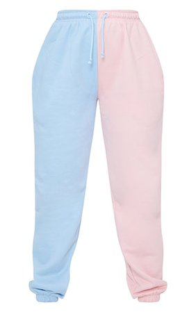 Pink Contrast Leg Joggers | Trousers | PrettyLittleThing