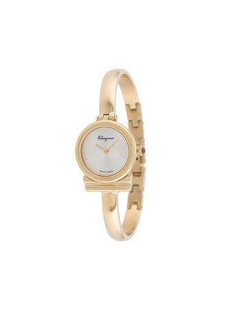 Shop gold Salvatore Ferragamo Watches Gancini 22mm watch with Express Delivery - Farfetch