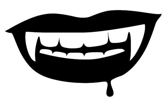 Black Vampire Lips
