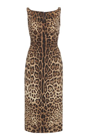 Dolce & Gabbana Printed Silk-Blend Dress