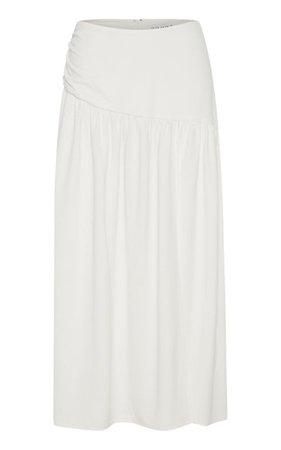 Marble Draped Jersey Midi Skirt By Third Form | Moda Operandi