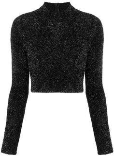 black glitter top