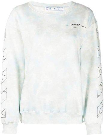 Off White Cloud print sweatshirt