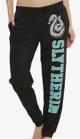 slytherin joggers black green dark forest lounge pajamas legging pants