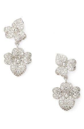 precious pansy pavé statement drop earrings | Nordstromrack