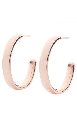Buy Monica Vinader Fiji Rose Gold Large Hoop Earrings Online