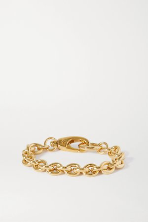 Gold Cable gold-plated bracelet | Laura Lombardi | NET-A-PORTER