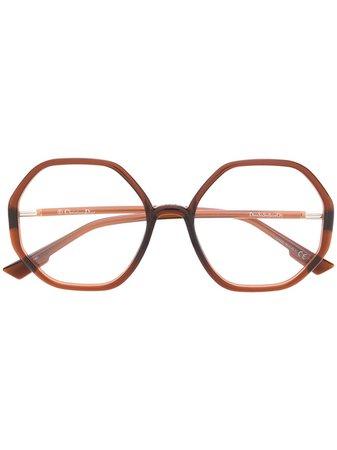 Dior Eyewear SOSTELLAIREO5 Hexagonal-Frame Glasses Ss20 | Farfetch.com