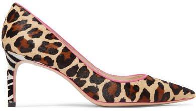 Rio Leopard And Zebra-print Calf Hair Pumps - Leopard print
