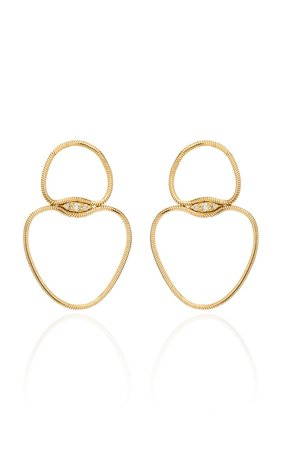 Fluid Small Chain Diamond 18K Yellow Gold Earrings by Fernando Jorge | Moda Operandi