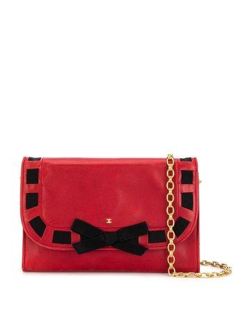 Chanel Pre-Owned ribbon trim shoulder bag