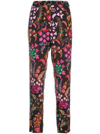 Etro Bohemian Print slim-fit Trousers - Farfetch