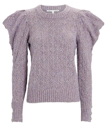 Veronica Beard Novah Pointelle Sweater | INTERMIX®