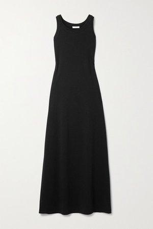 Elkie Pima Cotton-jersey Maxi Dress - Black