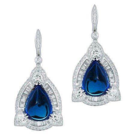 Tanzanite and Diamond Earring by Takat For Sale at 1stDibs