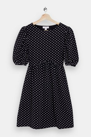 Black and White Spot Babydoll Dress | Topshop