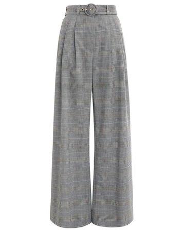 gray plaid pants
