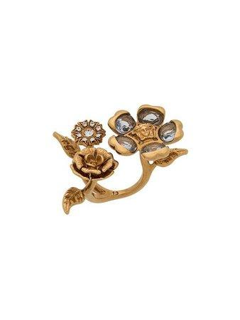 Versace V-Floral Ring
