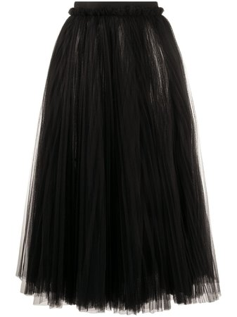 Dolce & Gabbana Ruched Tulle Midi Skirt - Farfetch
