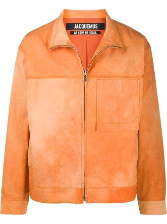 Jacquemus Zip-Front Stand-Collar Jacket 205BL05205 Orange | Farfetch