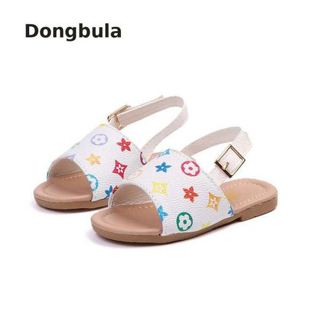 Online Shop New2019 Summer Children Sandals Party For Girls Baby Toddler Shoes Kids Family Leather Beach Little Girls Open Toe Flat Non-slip | Aliexpress Mobile