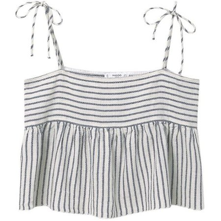 Mango Striped Cotton Top
