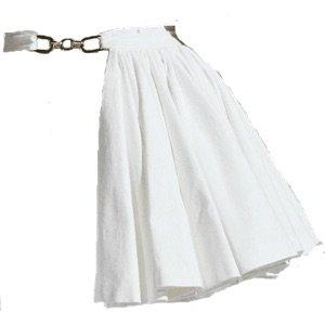 White Skirt Belt