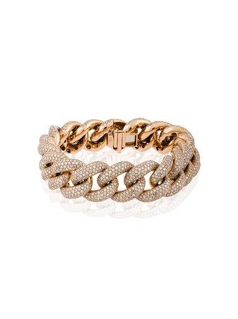 Shay Jumbo 18Kt Diamond Pave Link Bracelet | Farfetch.com