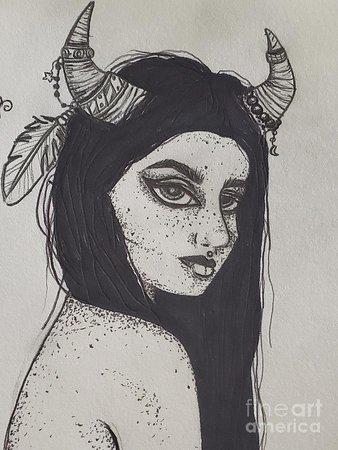 Origins Taurus Drawing by Ashley Wells
