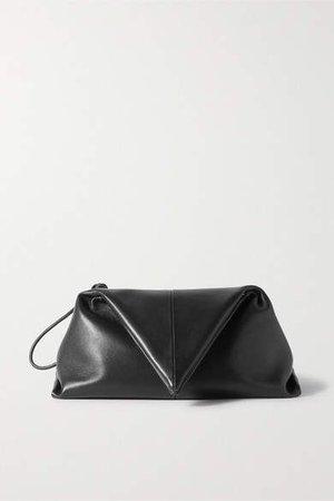 Envelope Leather Clutch - Black