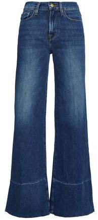 Le Palazzo Faded High-rise Wide-leg Jeans