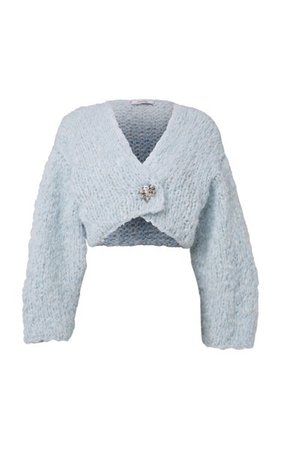 Crafted Essence Oversized Wool-Blend Cropped Cardigan By Dorothee Schumacher | Moda Operandi