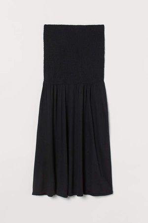 MAMA Smocked Jersey Skirt - Black