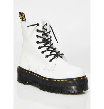 Dr. Martens White Jadon 8 Eye Boots | Dolls Kill