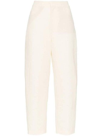Novara linen tapered leg trousers