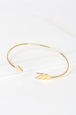 Gold Bracelet - Arrow Bracelet - Gold Bangle Bracelet
