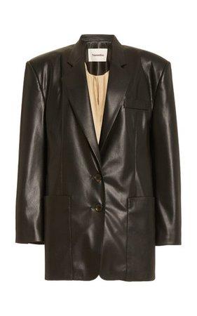 Evan Structured Faux-Leather Blazer By Nanushka | Moda Operandi